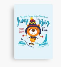 Jump for Big Fun Canvas Print