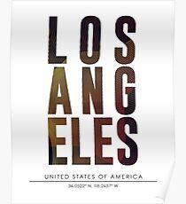 Los Angeles City Name Print Poster