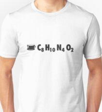 Coffee Chemistry: C8H10N4O2 T-Shirt