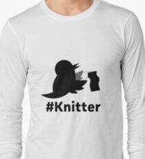 The Knitter Bird Long Sleeve T-Shirt