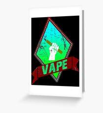 VAPE LOGO BY CHAOS  Greeting Card