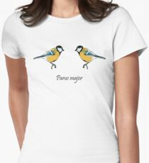 Great Tits - Parus major Women's Fitted T-Shirt