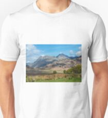 The Langdale Pikes, Lake District National Park Unisex T-Shirt
