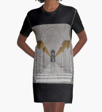 United Arab Emirates. Abu Dhabi. Sheikh Zayed Grand Mosque. Colonnade. Graphic T-Shirt Dress