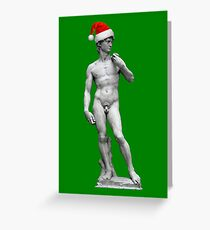 Michelangelo's David - Christmas Edition Greeting Card