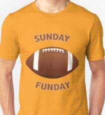 American Football Rugby Gridiron Design - Sunday Funday T-Shirt