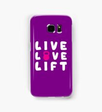 LIVE, LOVE, LIFT - Kettlebell Samsung Galaxy Case/Skin