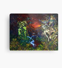 Enchanted Lake of the Secrets of Dragons Metal Print