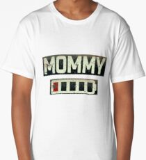 Women's Daughter T-Shirt Mommy Battery Energy Shirt Long T-Shirt