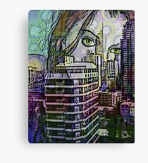 Cityscape Girl Canvas Print
