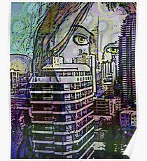 Cityscape Girl Poster