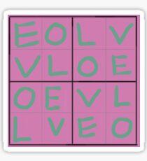 Sudoku Love Sticker