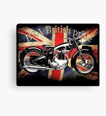 Vintage Classic British BSA Motorcycle Icon Canvas Print