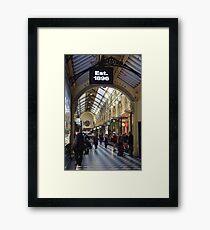 Shopping Arcade Melbourne - Victoria Framed Print