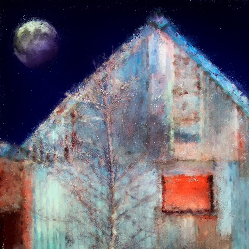 Moon and Silver Shed by Frank  McDonald