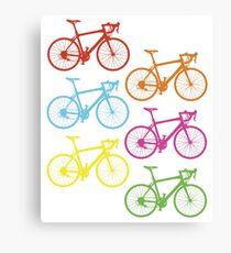 Rainbow bicycles Canvas Print