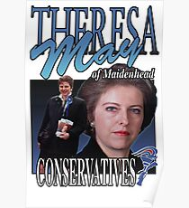 THERESA MAY CONSERVATIVES VINTAGE Tee Poster