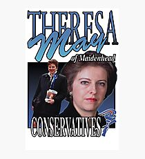 THERESA MAY CONSERVATIVES VINTAGE Tee Photographic Print
