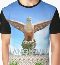 Eagle Square Statue on the Waterfront in Langkawi Island Graphic T-Shirt