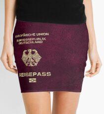 German Passport Vintage Mini Skirt