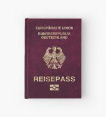 German Passport Vintage Hardcover Journal