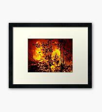Bush Fire.... Framed Print