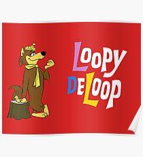 Loopy De Loop, Hanna-Barbera classic cartoon Poster