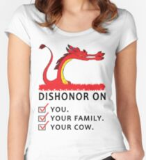 Dishonor on you your family your cow Women's Fitted Scoop T-Shirt