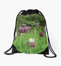 Kievitsbloem ~ Fritillaria Meleagris  Drawstring Bag