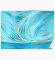 Turquoise Seascape - Golden Hour Poster