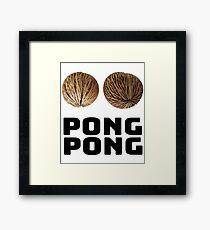 Pong Pong Tree Seeds Framed Print