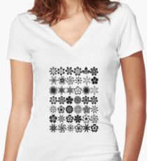just flowers Women's Fitted V-Neck T-Shirt