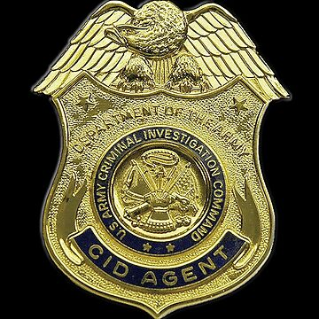 AMERICAN, US, USA, Army, Criminal Investigation Command, CID, Agent, Military Badge by TOMSREDBUBBLE