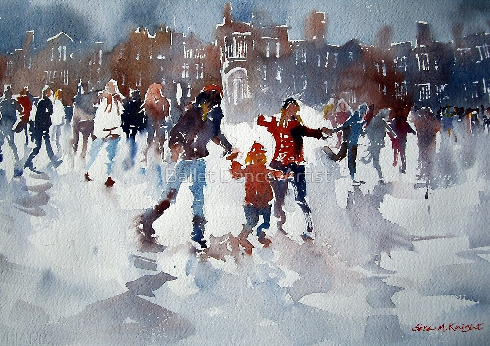 Ice Skating At Hampton Court Palace London by Ballet Dance-Artist