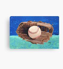Baseball & Glove painting Canvas Print