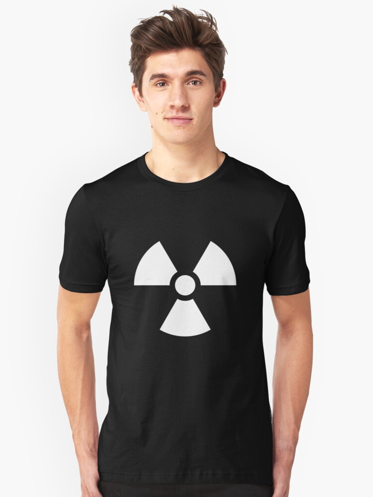 Radiation Hazard Symbol Unisex T-Shirt Front