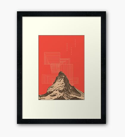 山 (v#2) Framed Print