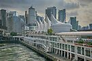 Canada Place and Vancouver Skyline by Gerda Grice
