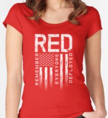 Remember Everyone Deployed-Military R.E.D. Women's Fitted Scoop T-Shirt