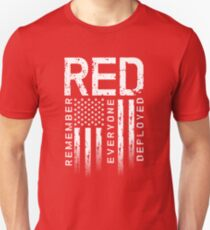 Remember Everyone Deployed-Military R.E.D. T-Shirt