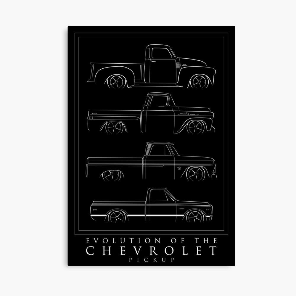 Evolution of the Chevy Pickup  Canvas Print