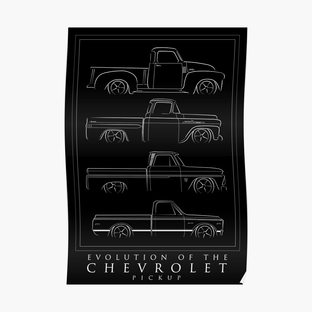 Evolution of the Chevy Pickup  Poster