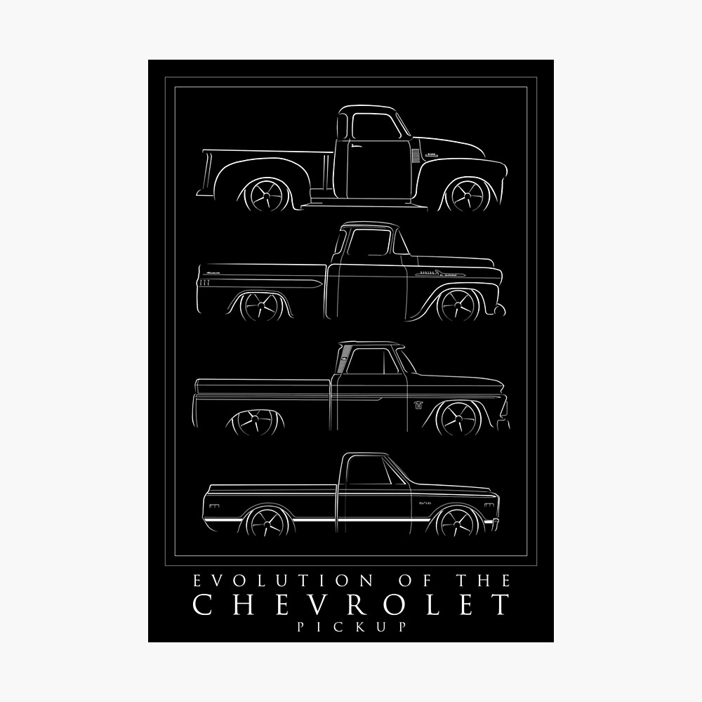Evolution of the Chevy Pickup  Photographic Print
