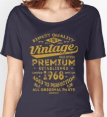 Vintage 1968 Birthday Gift Idea Women's Relaxed Fit T-Shirt