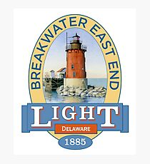 Breakwater East End Lighthouse Photographic Print
