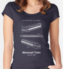 Monorail Train Patent Women's Fitted Scoop T-Shirt