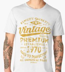 Vintage 1970 Birthday Gift Idea Men's Premium T-Shirt