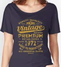 Vintage 1972 Birthday Gift Idea Women's Relaxed Fit T-Shirt