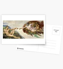 Creation of Adam - Painted by Michelangelo Postcards