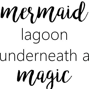 I'll think of a mermaid lagoon underneath a magic moon by princessbedelia